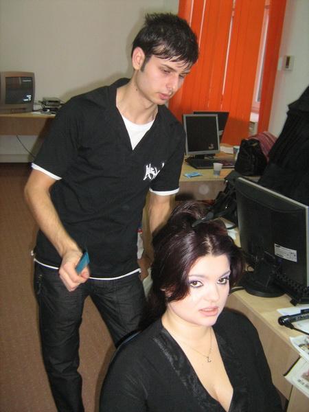 ana maria popescu si hair-stilistul marian ciulin